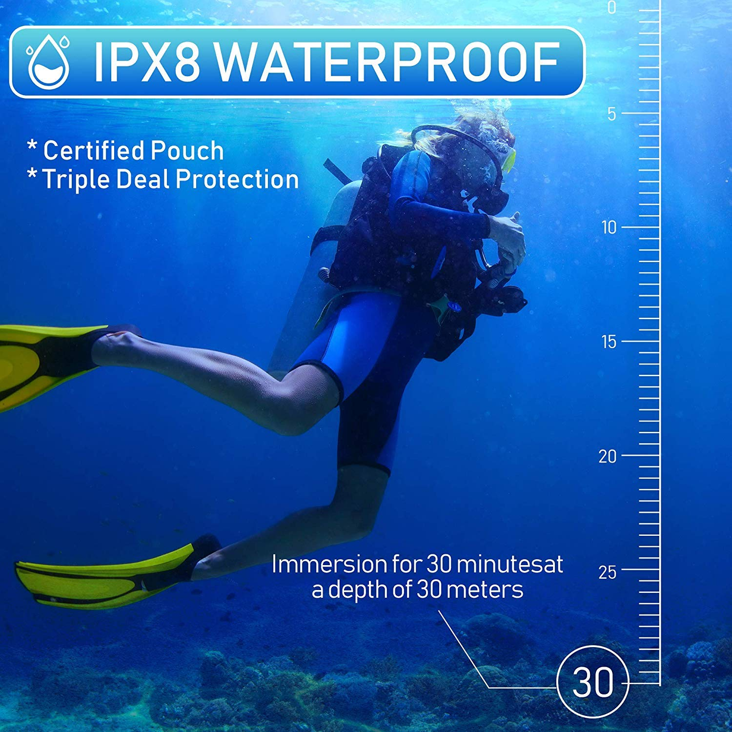 Dry Bag for Cell Phone Pixel 3 2 XL HTC LG Sony Moto Up to 7 3 Pack Universal Waterproof Phone Pouch Summer Water Sports and Dive for iPhone Xs Max XR X 8 7 6S Plus Galaxy S10 Plus S10e S9