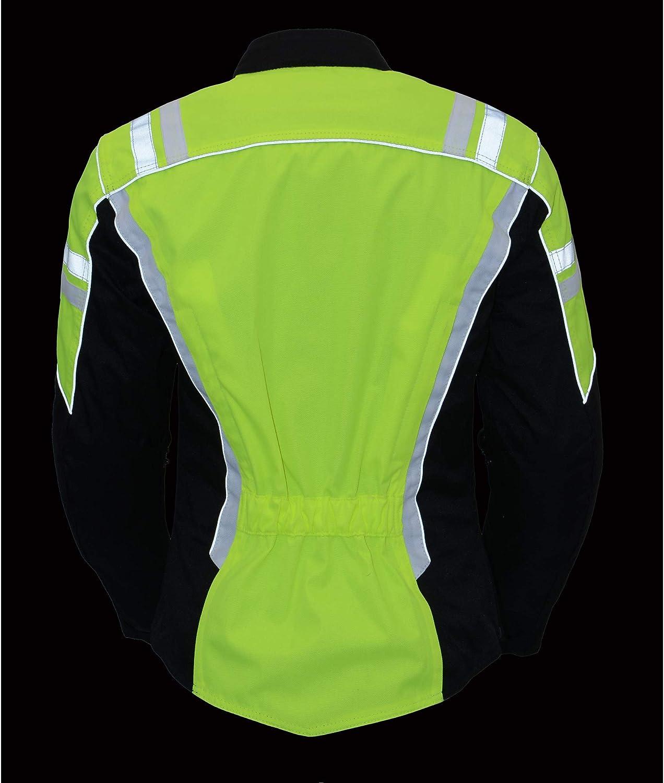 Size 2.0 M Boss Apparel BOS22704 Ladies Hi Vis Green Textile Racer Hi-viz Neon