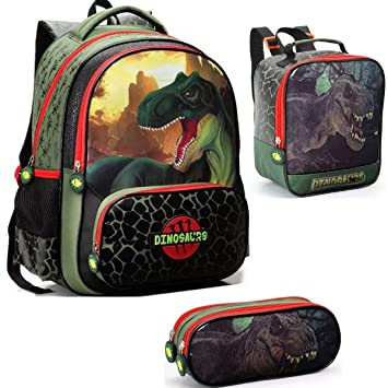 4238537e4 Kit Mochila Escolar Dinossauro Tam G Costas Seanite: Amazon.com.br ...