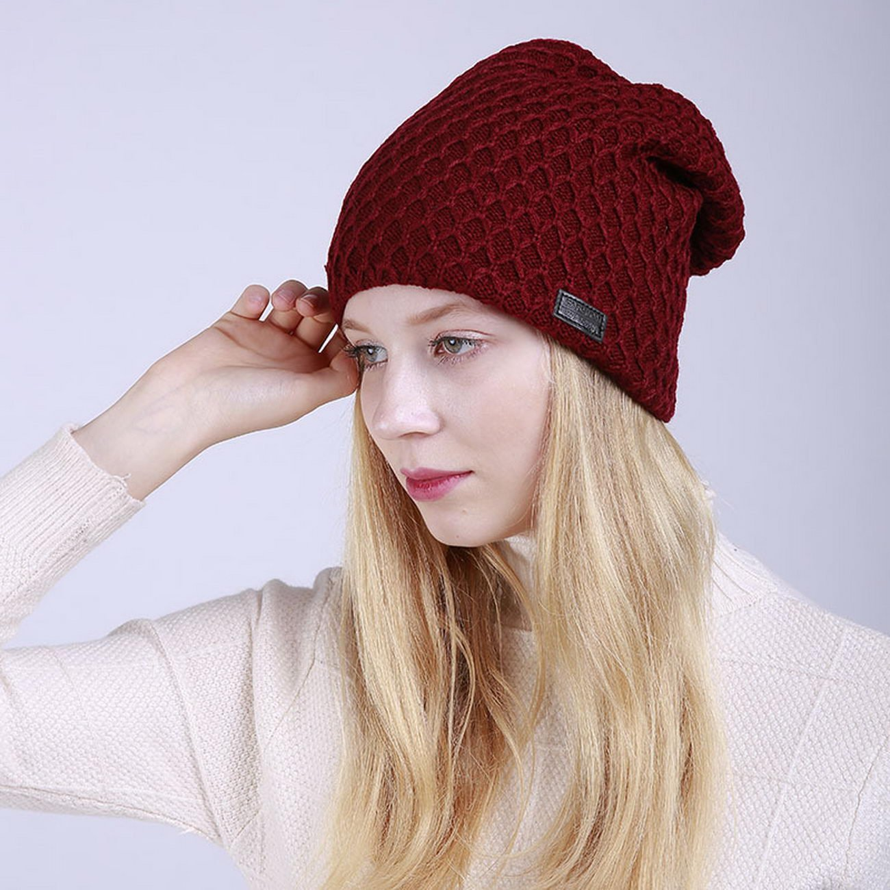 KUAILEJIA ms m047 new mesh hat lady hat wool cap autumn and winter outdoor warm men lady