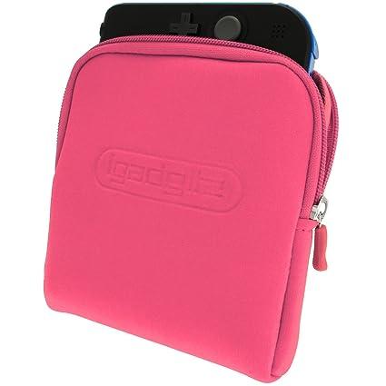 iGadgitz U2709 - Neopreno Funda Carcasa Bolsa del Recorrido Case Cover Compatible con Nintendo 2DS - Rosa