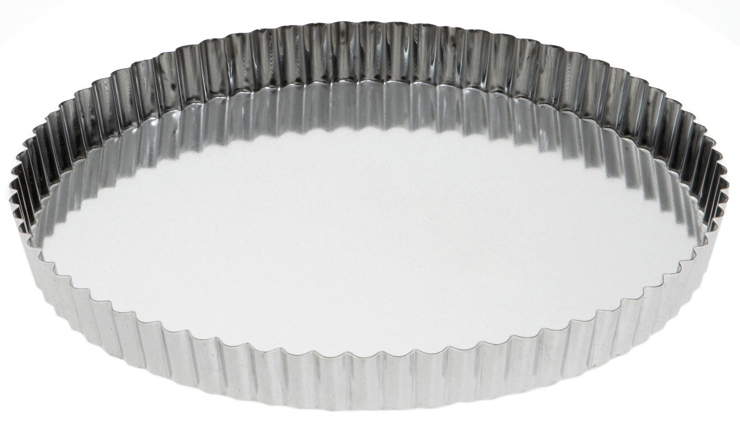 SCI Scandicrafts B264-32 Removable Bottom 12.5'' x 1'' Fluted Tart/Quiche Mold, Silver by SCI Scandicrafts