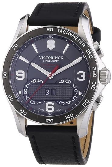 Victorinox Swiss Army Chrono Classic - Reloj de Cuarzo para Hombre, con Correa de Cuero, Color Negro: Amazon.es: Relojes