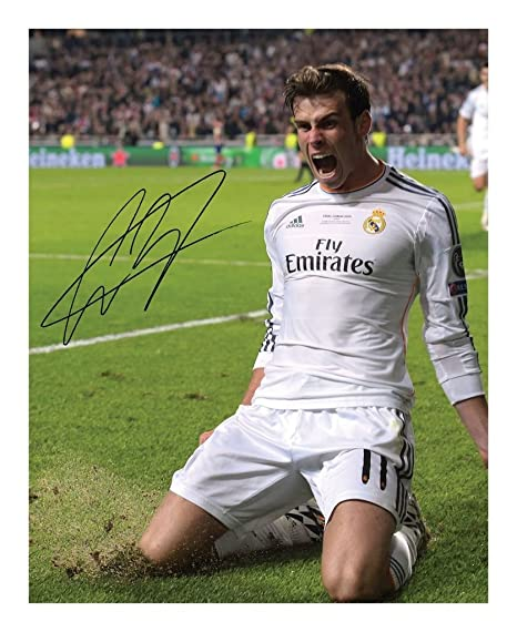 8ad9eb4eb61 Gareth Bale - Real Madrid Autograph Signed A4 21cm x 29.7cm Photo Poster   Amazon.co.uk  Kitchen   Home