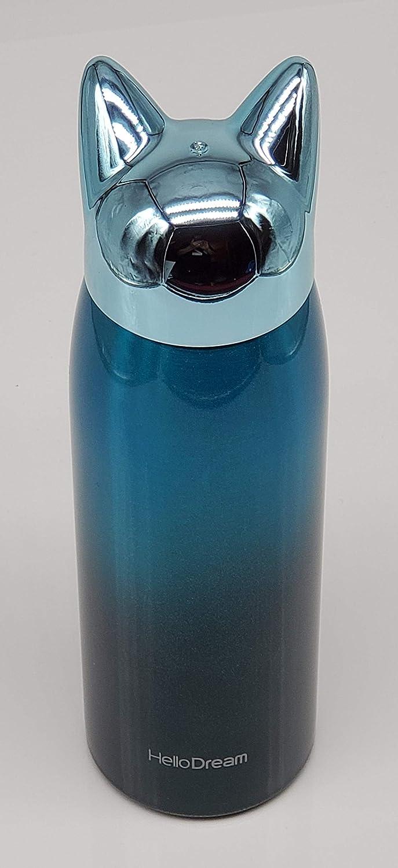 Botella de agua aislada con dise/ño de orejas de gato de acero inoxidable termo de viaje doble pared Ecentaur taza de caf/é para bebidas fr/ías y calientes