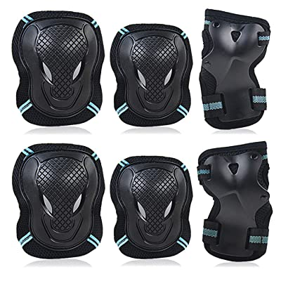 Labeol 6 Pack Kids & Adults Skateboard Ice Roller Skating Protective Gear Elbow Pads Wrist Guard Cycling Riding Knee Protector Set : Sports & Outdoors