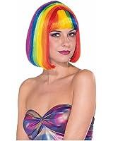 Forum Multicolored Rainbow Raver Costume Bob Wig