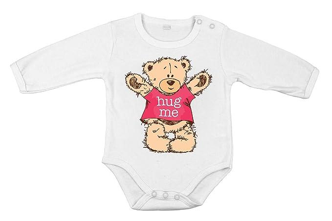 Abrázame osito body algodón cómico para recién nacido manga larga ...