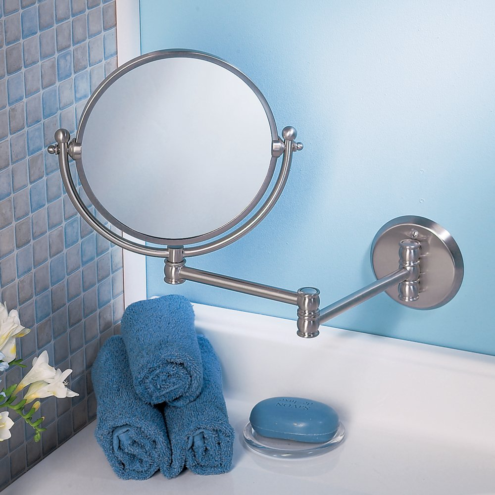 Amazon.com: Gatco 1411 Wall Mount Mirror With 14 Inch Swing Arm Extents,  Chrome: Home Improvement