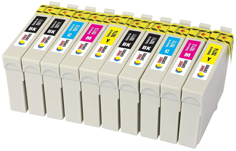 10 XL TONER EXPERTE® Compatibles T0715 Cartuchos de Tinta para ...
