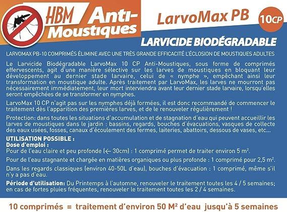 HBM LarvoMax - Larvicida Biodegradable, antimosquitos. 10 ...