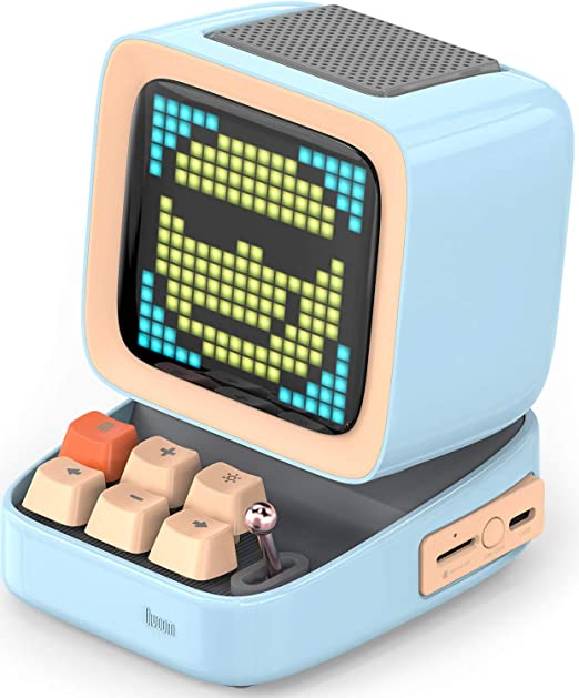 Divoom Ditoo Altavoz Bluetooth Portátil con Pantalla De Píxeles Retro, Control De App De Teléfono Inteligente/Teclado Mecánico con Retroiluminación ...
