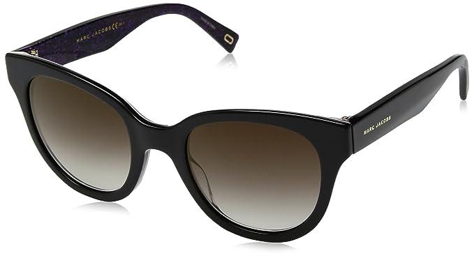Womens Marc 231/S JL 2HQ Sunglasses, Bk Bkwhtanim/Bw Black Brown, 50 Marc Jacobs