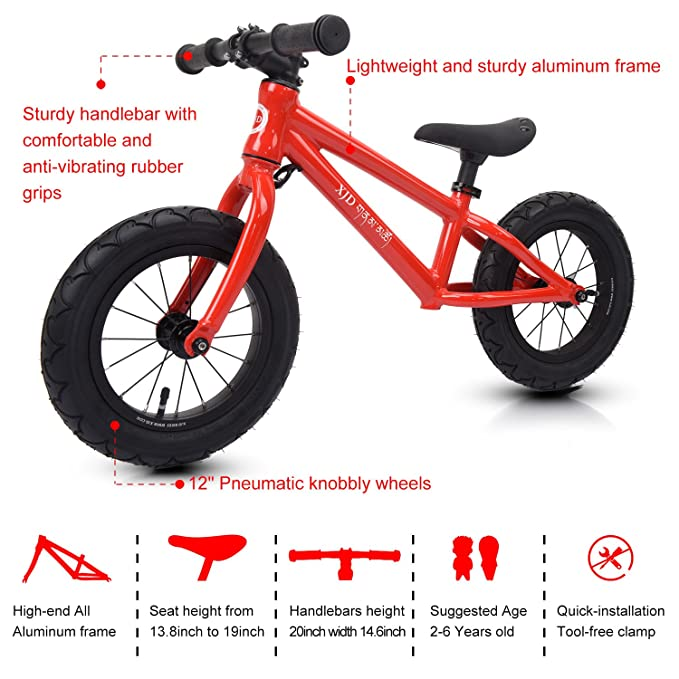 Buy Xjd Balance Bike for Kids Ages 3 to 6 Years Lightweight Aluminum ...