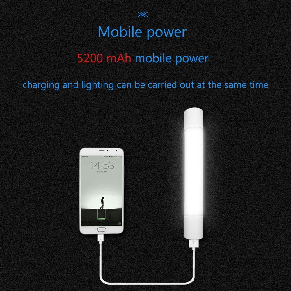 Portable LED Outdoor Camping Light Stick, Magnet LED Work Light for Car Repair, Garage, Camping, Hiking, Fishing by jajoy (Image #3)