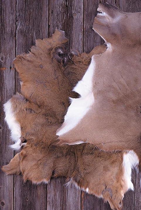 LeatherUnltd Genuine Deerskin Rug, 8 To 11 Sq. Ft.