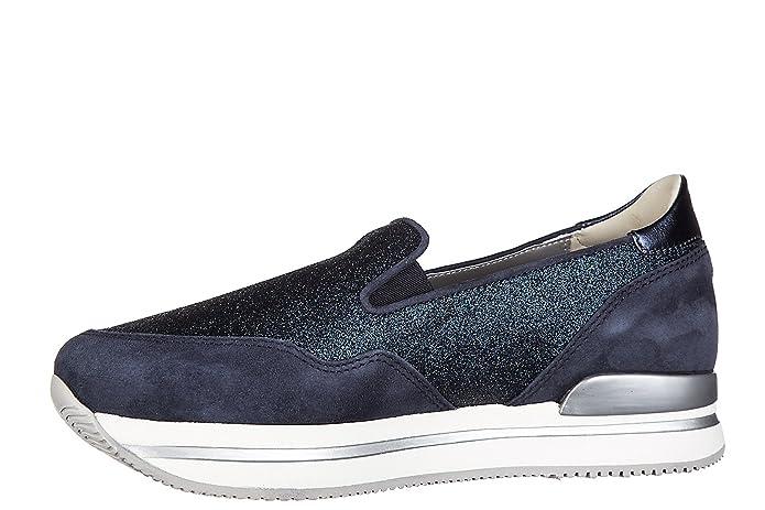 Hogan Damen Wildleder Slip on Slipper Sneakers h222 Pantofola Blu EU 39 HXW2220T671G4D0X05 sReHXQ