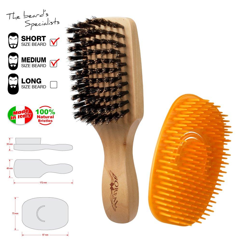 Set uomo. Spazzola e pettine districante per la barba. Il pettine districa i nodi e aiuta a distribuire olii o detergenti mentre la spazzola dà forma alla barba. IPPA SRL
