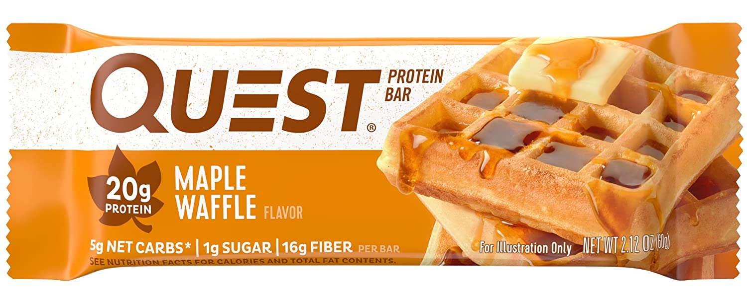 Quest Nutrition Protein Bar, Maple Waffle (Pack of 12)