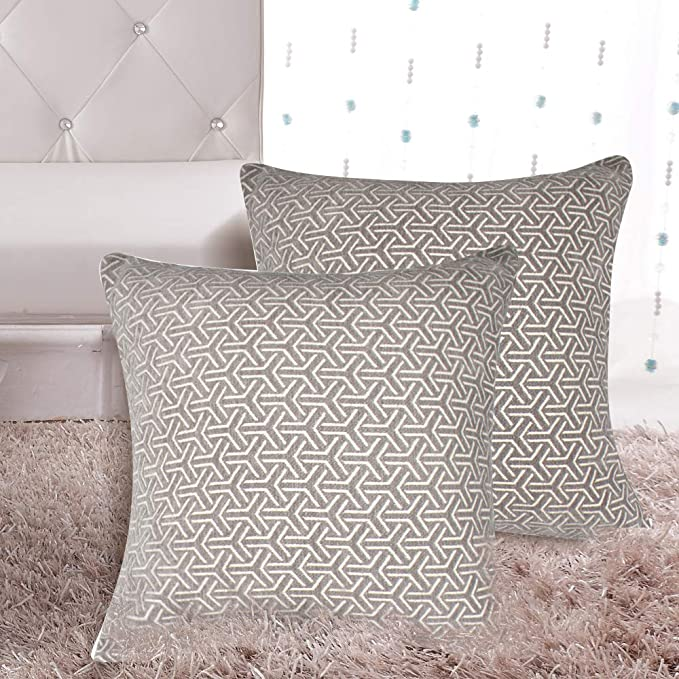 MRNIU Set of 2 Throw Pillow Covers Coastal Cushions Cotton Home Decorative 20 x 20 inch Soft Pillow Case Covers Invisible Zipper Pillow Case No Pillow ...