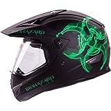 "IV2 ""BIOHAZARD"" High Performance Dual Sport Motocross ATV, Dirt Bike Helmet [DOT] - Medium"