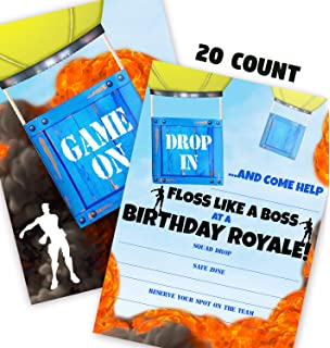 POP Parties Gaming Battle Party Invitations