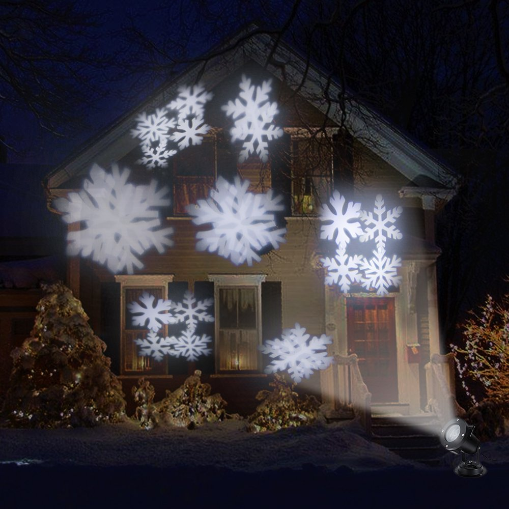 Faburo LED-Scheinwerfer für Weihnachten, für Den Außenbereich, 24 ...
