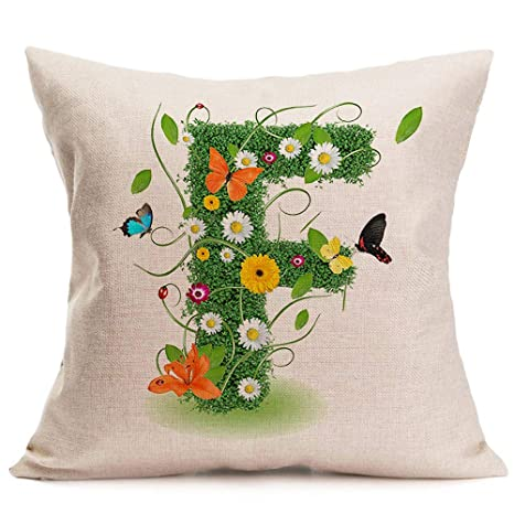 Amazon.com: 26 letras inglesas decorativas fundas de cojín ...