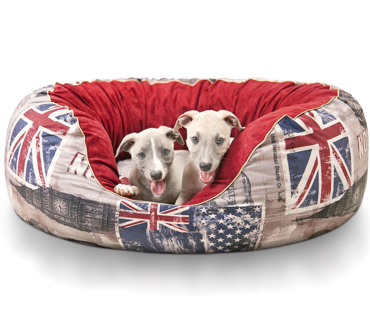 Knuffelwuff panier chien, lit pour chien, coussin, corbeille pour chien Alidho, anglais Union Jack XXL 110 x 95cm AMZALIDOH-2