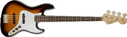 Squier Affinity Series Jazz Bass Laurel FB Bajo Guitarra: Amazon ...