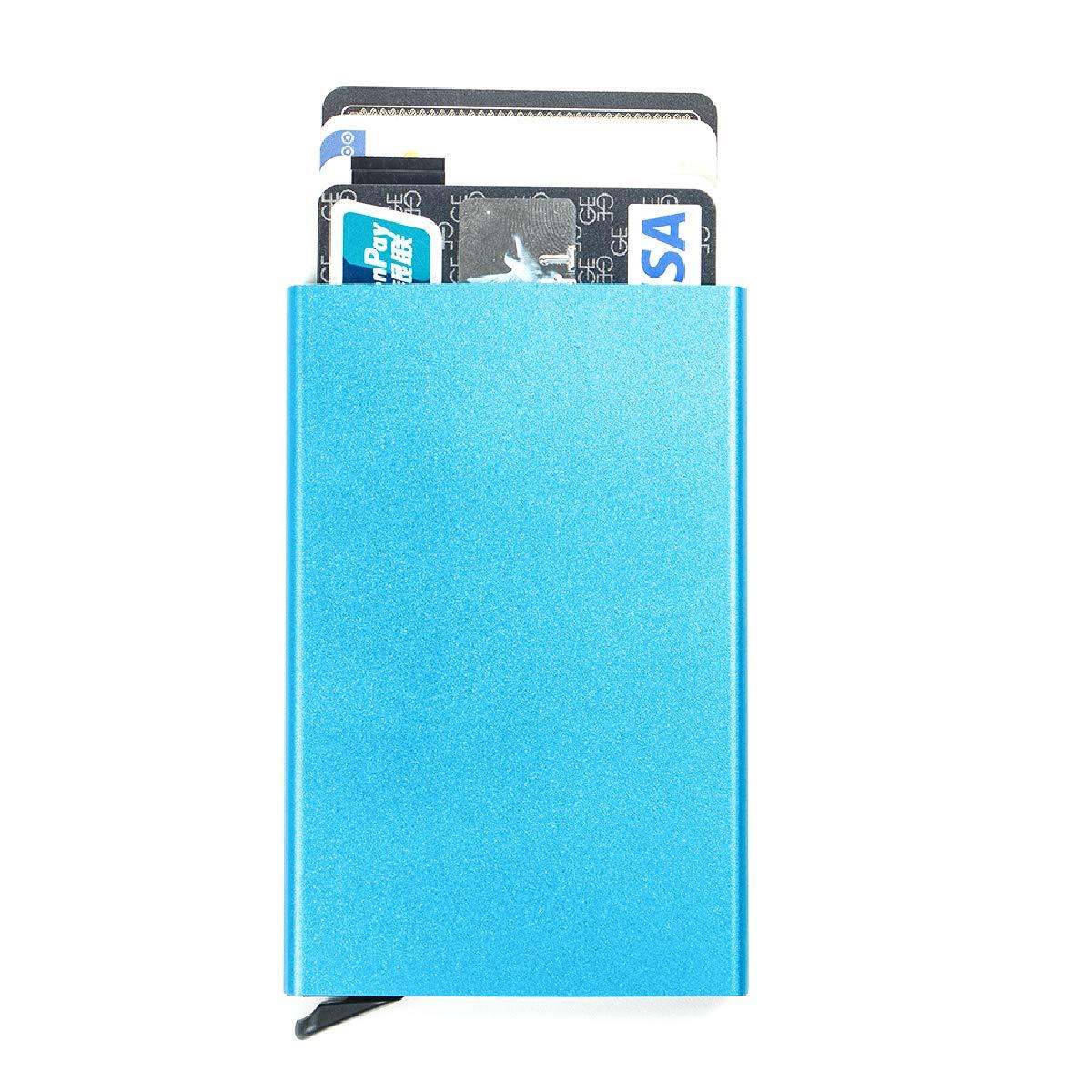 Green Azarxis RFID Blocking Credit Card Holder Automatic Pop-up Aluminum Slim Metal Wallet