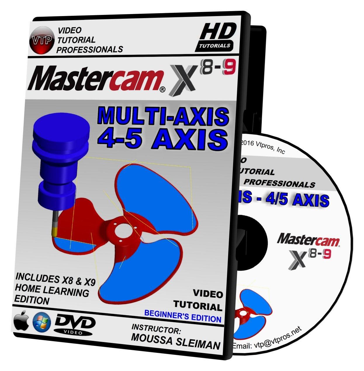 Amazon com: Mastercam X8-X9 MULTI-AXIS 4/5 AXIS BEGINNER Video