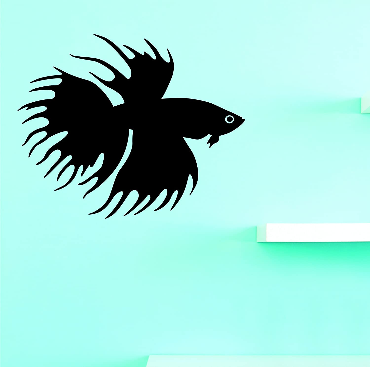 Design with Vinyl JER 2213 3 Hot New Decals Fish Wall Art Size 20 Inches x 30 Inches Color Black 20 x 30