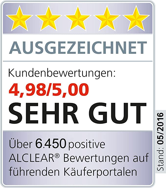 Alclear 5095h Polierpad Auto Polierschwämme Hart Für Rupes Poliermaschine Durchmesser 95 80x25 Mm Grau 2er Set Polierpad Polierschaum Auto