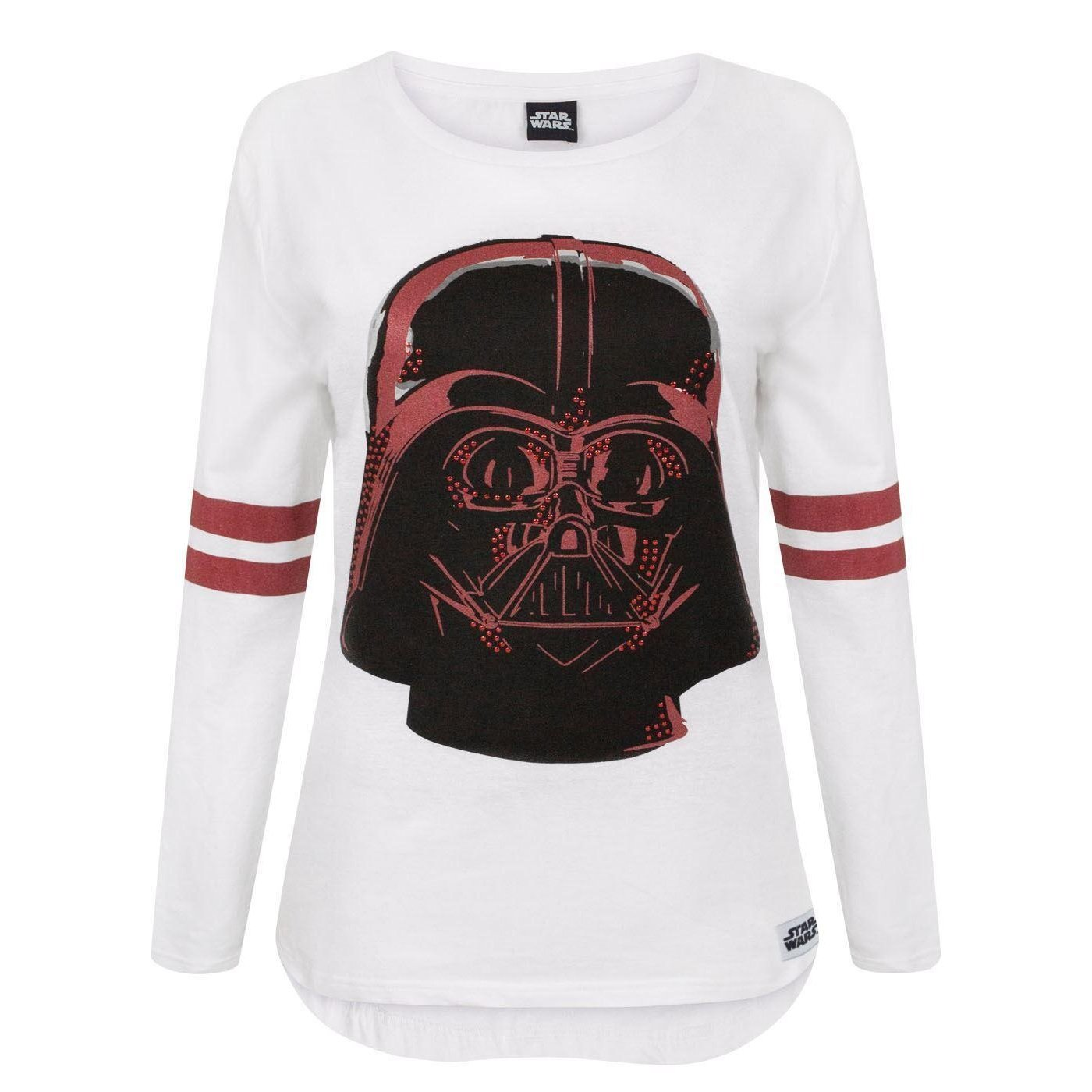 XX-Large White Star Wars Womens//Ladies Darth Vader Long Sleeve Top