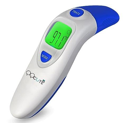 qqcute Digital por infrarrojos termómetro para la frente y el oído electrónico médica clínica instantánea Leer