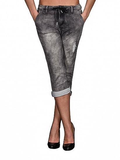 Urban Surface Damen Stretch 3/4 Jeans Capri Hose Sommer Boyfriend Shorts  B453: Amazon.de: Bekleidung