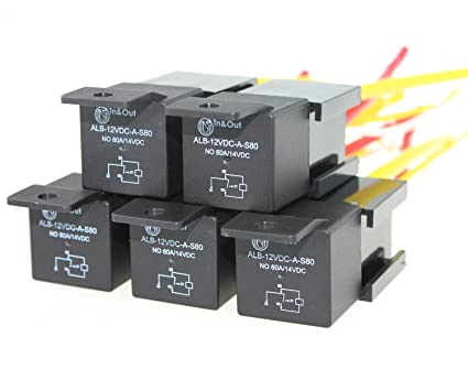 Wondrous Amazon Com Ambuker 4 Pin 80A 12V Spdt Automotive Relay Harness Set Wiring Digital Resources Xeirawoestevosnl