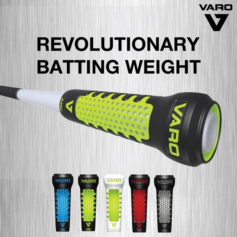 VARO Arc Small Bat Red/Black Revolutionary Bat Weight for 2 1/4'' 27-31'' Little League Bats by Authentic Baseball Shop