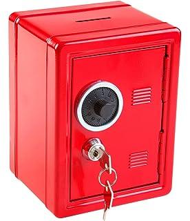 Größe schwarz Spartresor Geldkassette Spardose//büchse 12x10,5x16cm Farbe