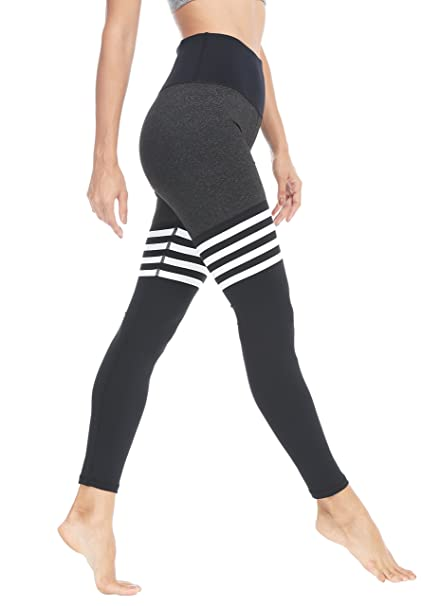 1384bac7f QUEENIEKE Women Yoga Leggings Knee-high Sock Workout Pants Running Tights  Size XS Color Black