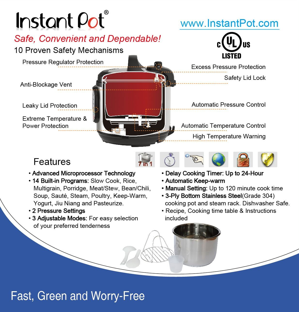 Instant Pot DUO50 7-in-1 Multi-Use Programmable Pressure Cooker, 5 Quart/900W by Instant Pot (Image #7)