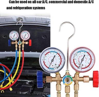 Walmeck 8pcs Car AC Air Conditioner Refrigeration Adapter Automobile Air Conditioning Refrigeration Repair Tools Connector Adapter Coupler Kit R134A R12