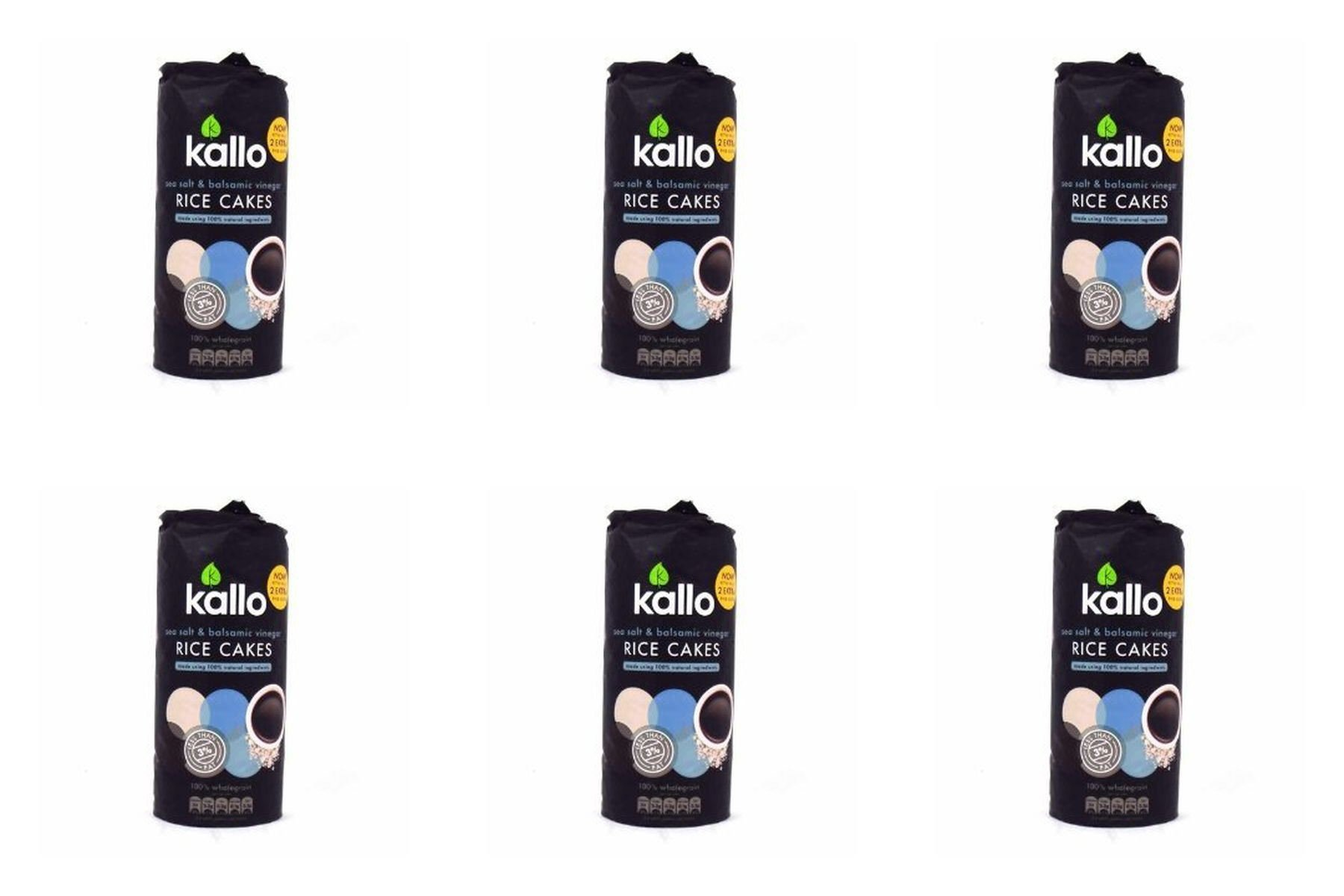 (6 PACK) - Kallo Jumbo Rice Cakes - Sea Salt & Balsamic Vinegar | 107g | 6 PACK - SUPER SAVER - SAVE MONEY