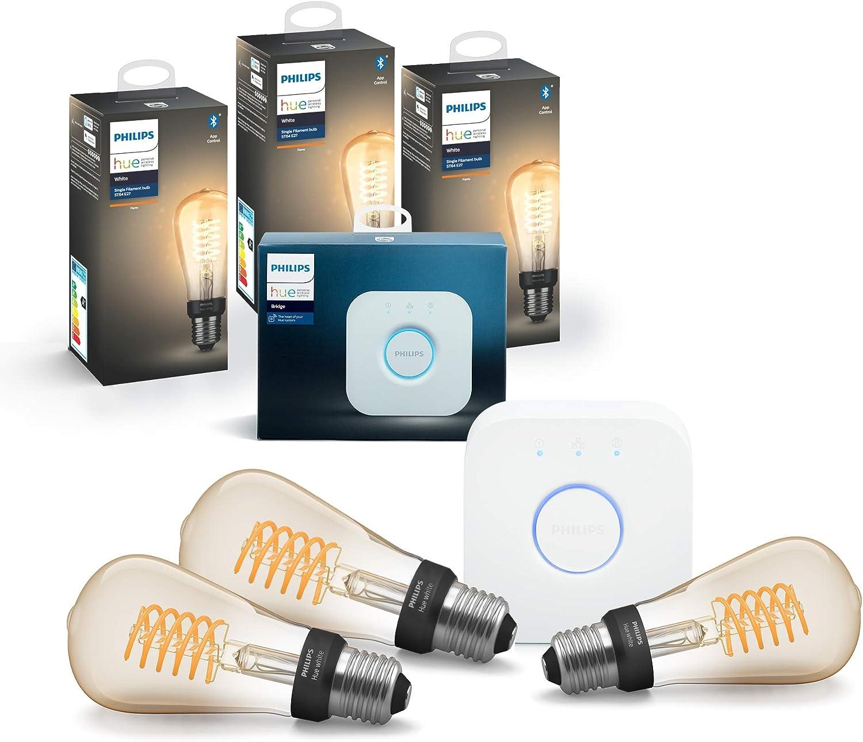 Philips Hue White E27 Ampoule LED Smart unique ST64 - 550lm Piston...