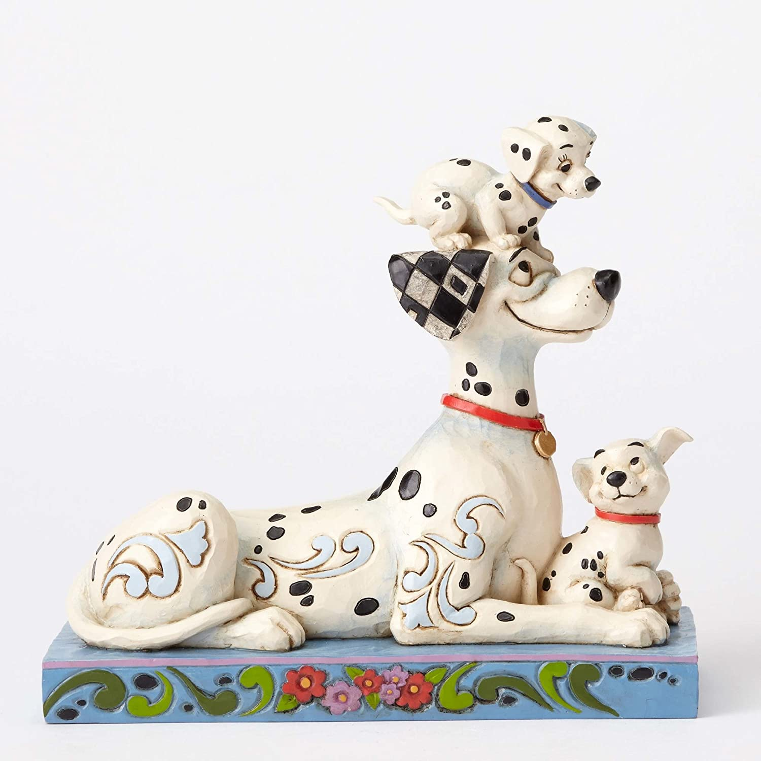 Disney Traditions by Jim Shore 101 Dalmatians 55th Anniversary Stone Resin Figurine, 6.25