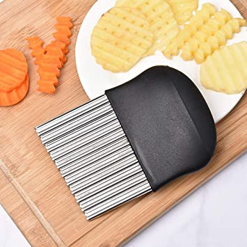 Kitchen Tools Stainless Steel Potato Wavy Cutter Chopper Vegetable Fruit Slicer