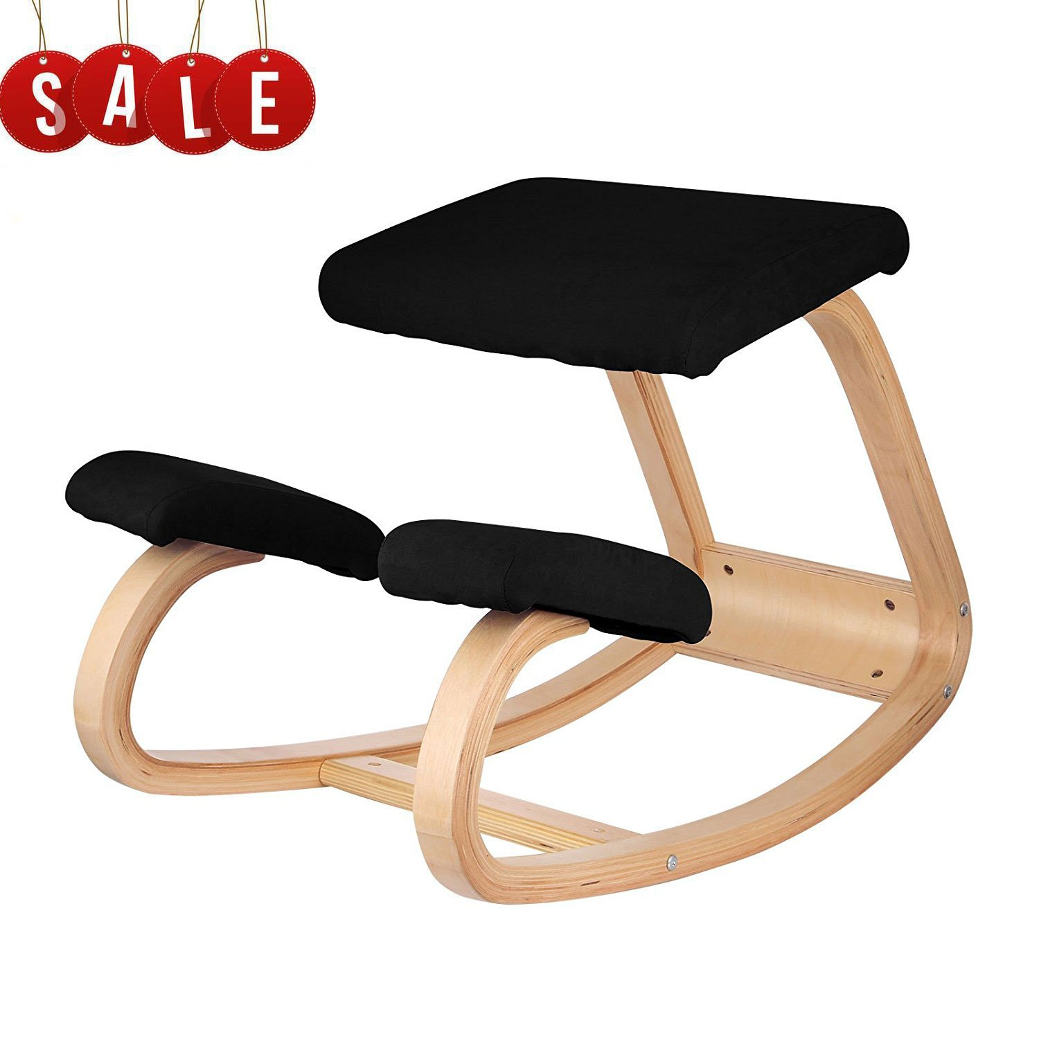 VEVOR Ergonomic Kneeling Chair Beech wood Ergonomic Kneeling Office Chair Perfect for Body Shaping and Relieving Stress