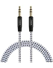 3ft Aux Cable,CableCreation 3.5mm Male to Male Auxiliary Audio Stereo Cord Compatible with Car,Headphones, iPods, iPhones, iPads,Tablets,Laptops,Android Smart Phones& More, 1M /Black & White
