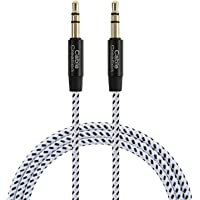 Aux Cable,CableCreation 3.5mm Male to Male Auxiliary Audio Stereo Cord Compatible with Car,Headphones, iPods, iPhones, iPads,Tablets,Laptops,Android Smart Phones& More, 3ft/Black & White